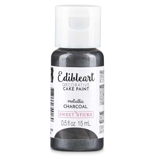 Sweetsticks Edible Art Paint - Metallic Charcoal